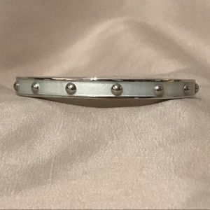 Coach Silver Studded Bangle Bracelet